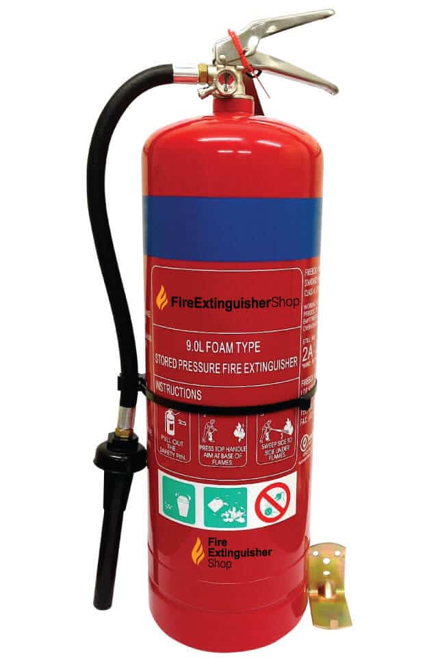 9 Litre Foam Fire Extinguisher Stainless Steel