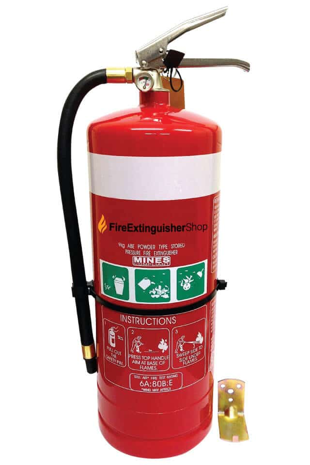 9kg Dry Chemical Fire Extinguisher ABE Stainless Handle